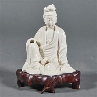 Chinese blanc de chine Guanyin figure