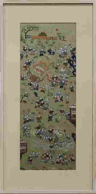 Chinese embroidered panel