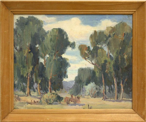6001: Painting, Landscape with Eucalyptus Trees