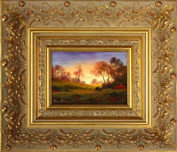 6013: Painting, Heinie Hartwig, Landscape with Sunset