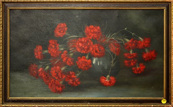 4004: Painting, Red Carnations