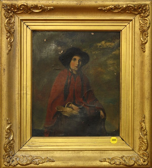 4005: Painting, Girl in a Red Cape