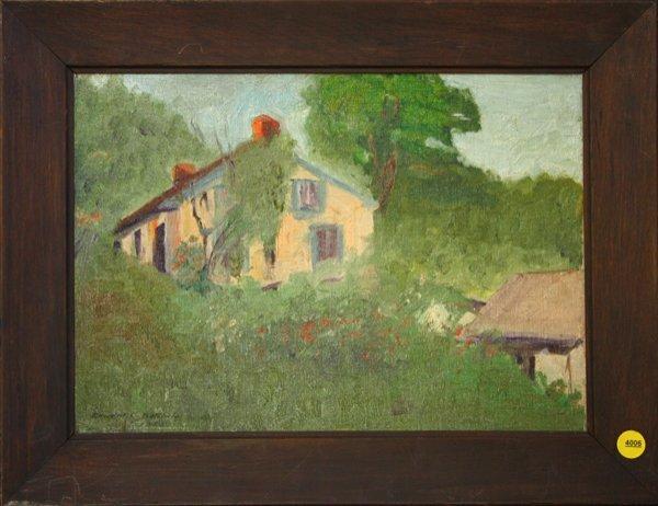4006: Painting, Edward Batchelor, Landscape with House