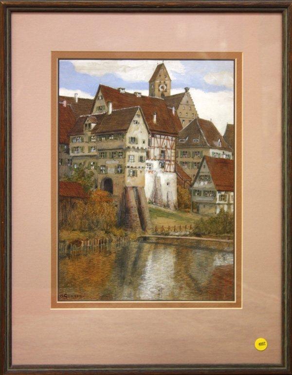 4007: Watercolor, Rudolph Gonner, German Village