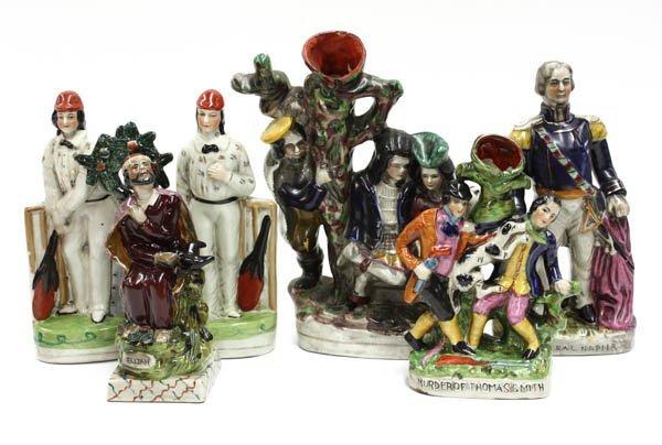 4011: Staffordshire style porcelain figures