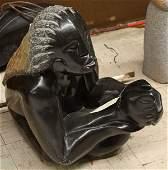 4673: Carved figural Shona sculpture