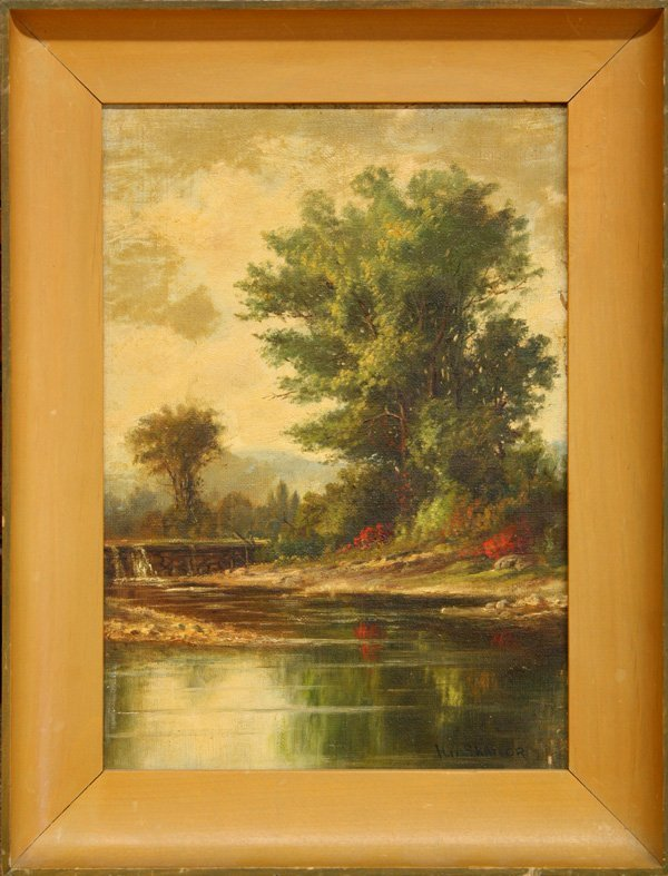 2009: Painting, Horace Woodbury Shaylor, River Landscap