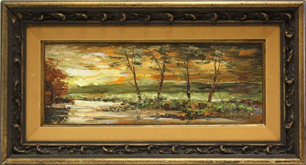 6: Painting, River Landscape at Sunset