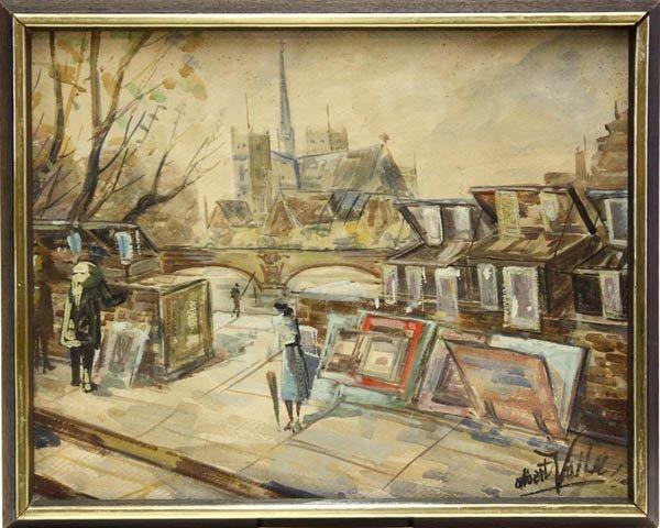 10: Watercolor, Paris Street Vendors