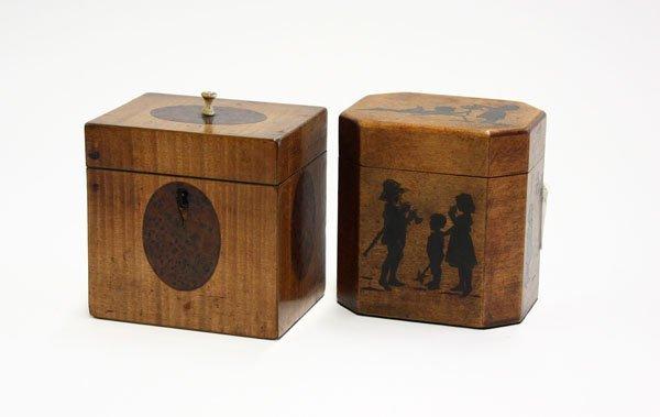18: 19th century wood tea caddies