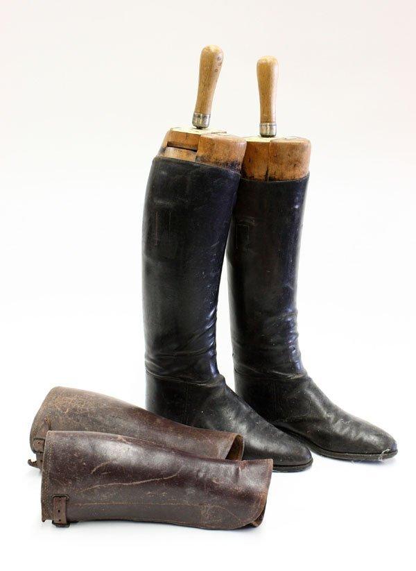 23: vintage black leather riding boots