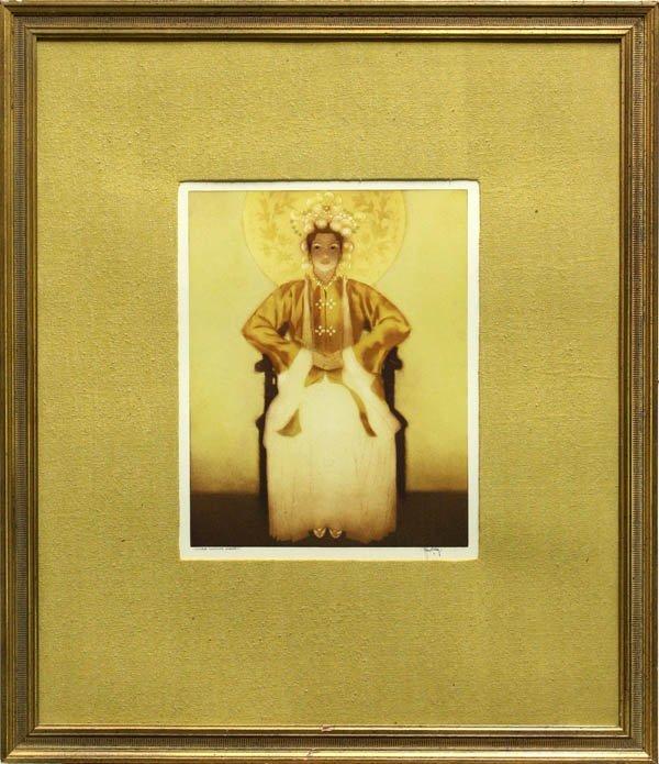 287: Print, John Melville Kelly, Chinese Costume Hawaii