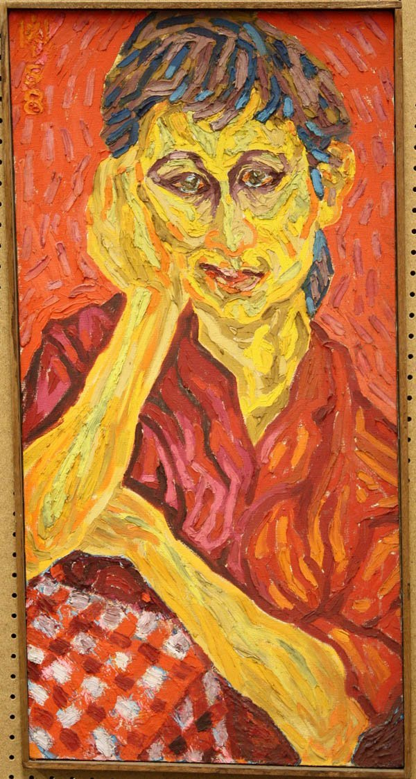 310: Painting, Max Hartstein, Girl in Red