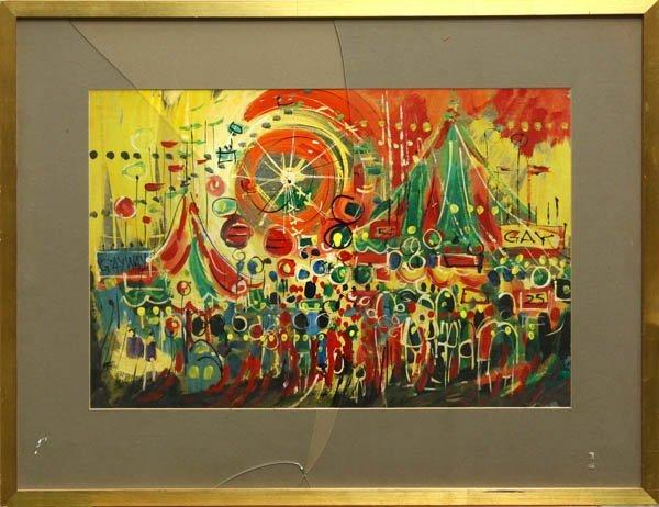 555: Mixed media, attibuted to Richard Yip, Carnival