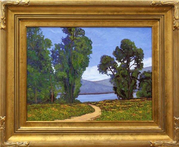 566: Painting, JD Rasberry, Wildflowers at Berrisee