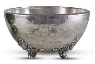 """1900 sterling horse trophy: """"THE TOLL GATE"""