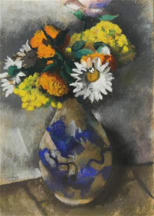 Pastel, Still life with Daisies