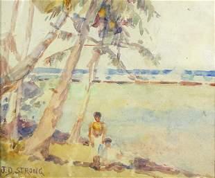 Watercolor, Joseph Dwight Strong, Jr