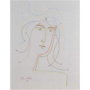 Work on paper, Attributed to Jean Cocteau