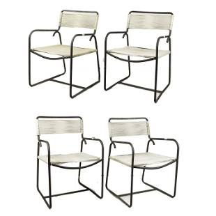 Walter Lamb, lounge chairs model C-1700, set of four