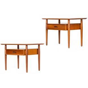 Arne Vodder, nightstands, pair