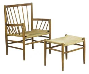 Jorgen Baekmark, J82 lounge chair and ottoman