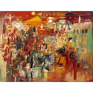 Painting, Wosene Kosrof