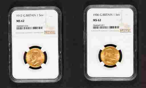 1906 Great Britain Gold sovereign NGC MS62
