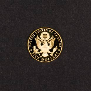 2008 US Proof $5 Gold Coin West Point, 8