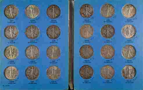 Walking Liberty Silver Half Dollar Collection 1937-1947