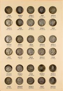 Mercury Head Dime Collection 1916-1945