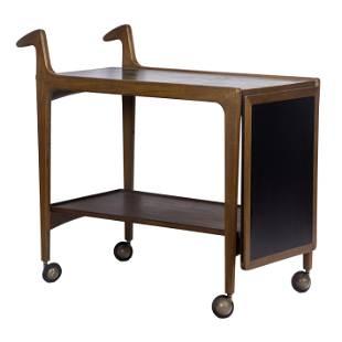 Danish Modern teak tea cart