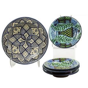 (lot of 4) Serghini Safi Moroccan plates