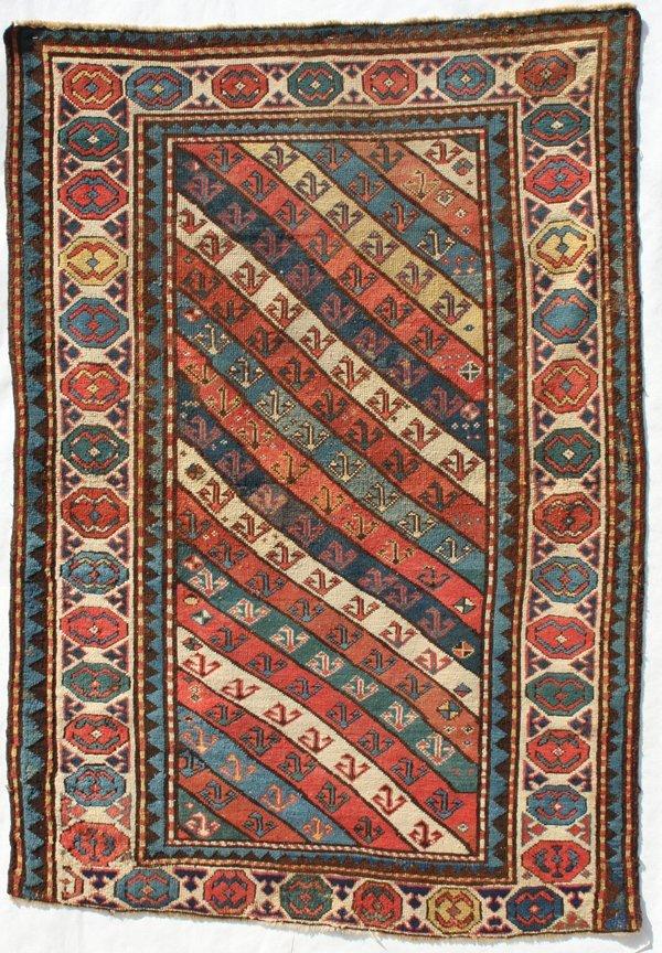 706: Genji diagonal striped rug