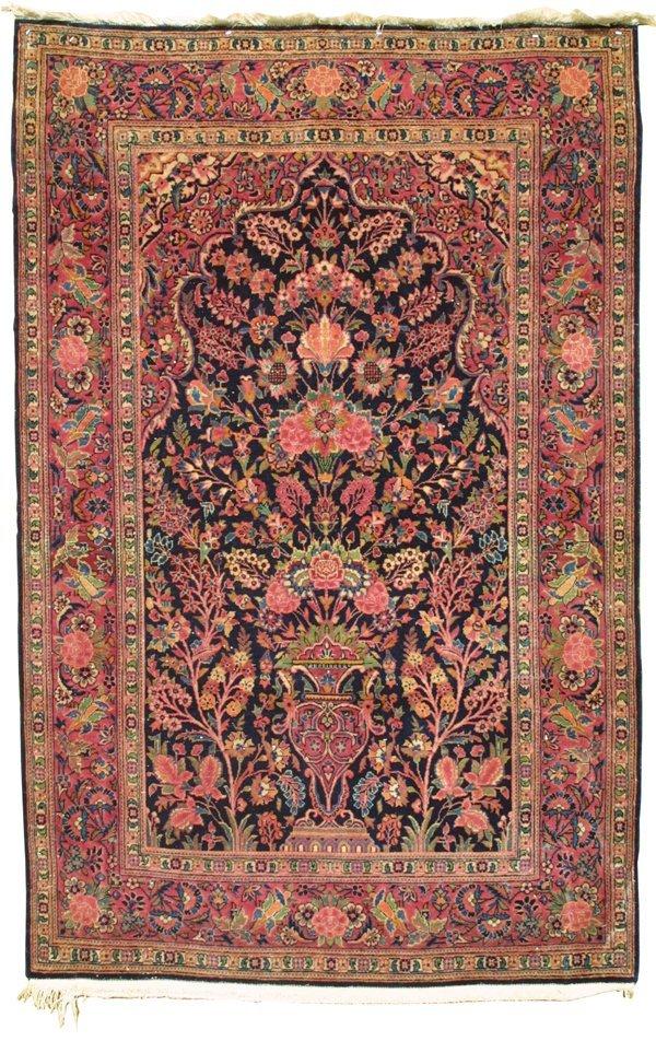 721: Kashan tree of life rug