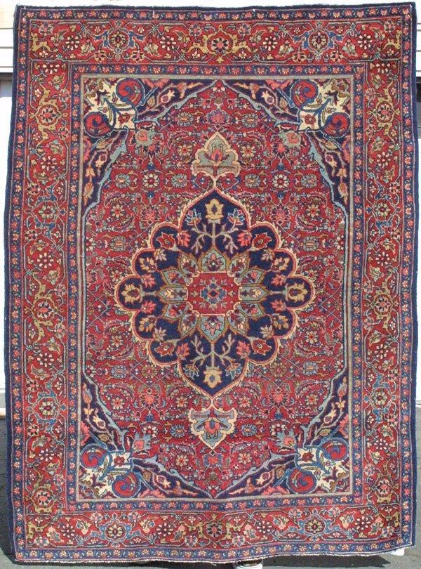 723: Tabriz medallion rug