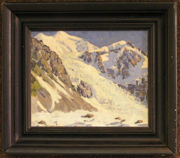 6003: Framed oil, Duncan Darrach