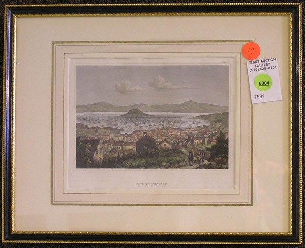 6004: Framed engraving, San Francisco