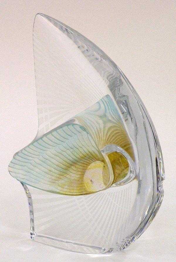 6009: Daum art glass fish sculpture