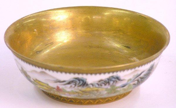 6092: Chinese Enamel decorated bowl