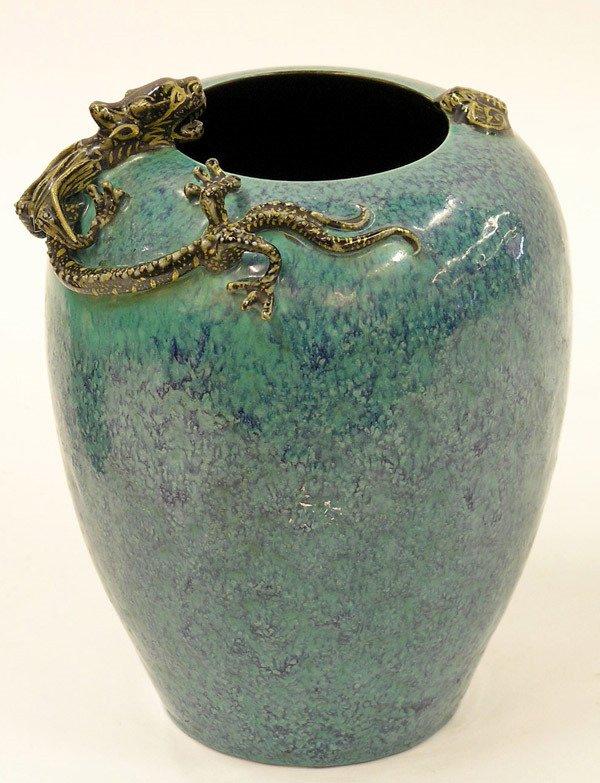 6124: Chinese Robin Egg Blue Vase