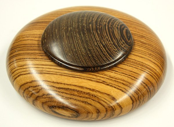 6004: Turned and carved studio lidded bowl