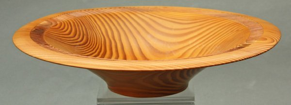 6012: Clay Foster wood turned vessel