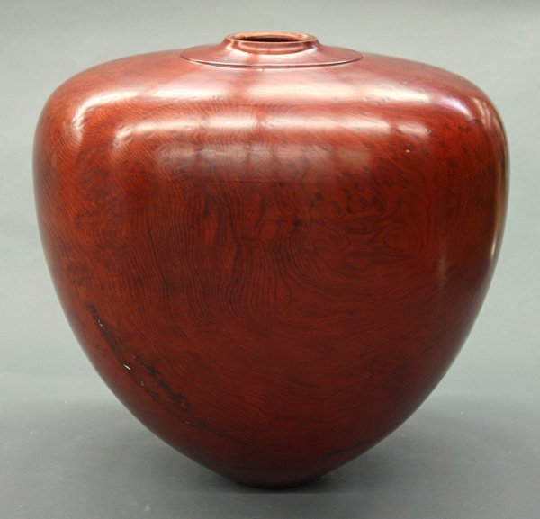 6014: Lanny Lyell large wood turned vessel