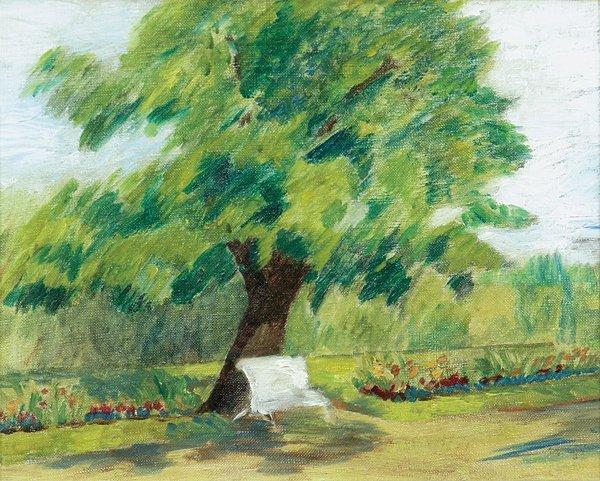 6172: Painting, Le Banc Blanc, Henri Manguin