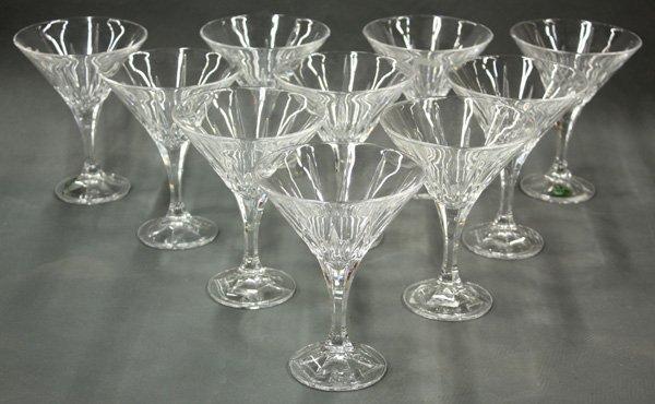 6199: Shannon crystal martini glasses