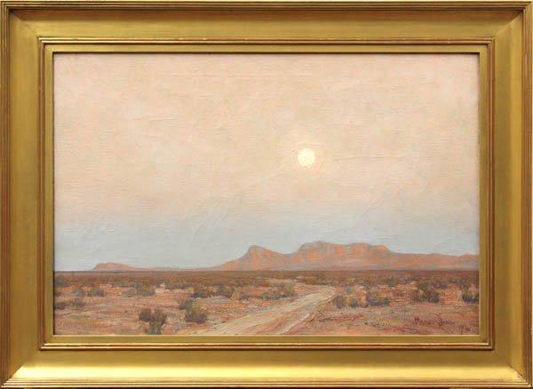 6384: Painting, Maynard Dixon, Moon over Mojave