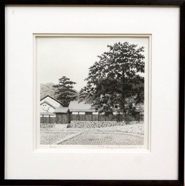 6536: Framed Japanese Modern Print, Tanaka Ryohei