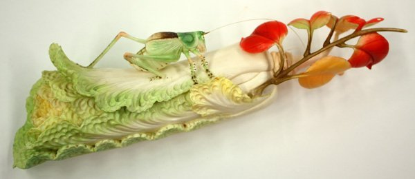 6597: Carved Chinese Ivory Cabbage