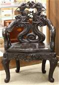 6655 Japanese Dragon Armchair Meiji Period